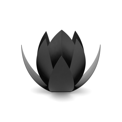 RVS Black Urn Lotus 0,05 Liter