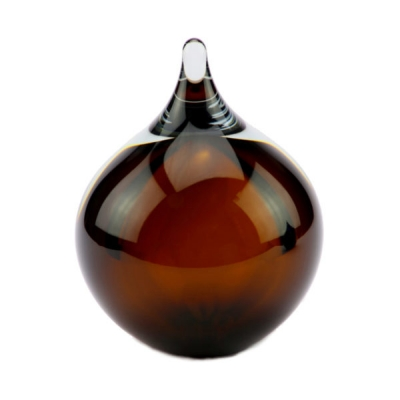 Mini Urn Glasobject Bubble Cognac