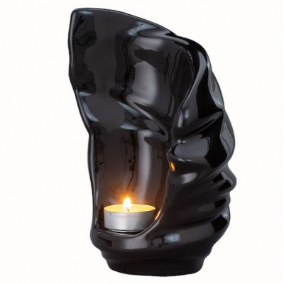Keramische Mini Urn Light Lamp Black