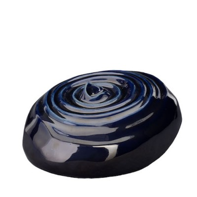 Keramische Urn Resonance Cobalt Metallic