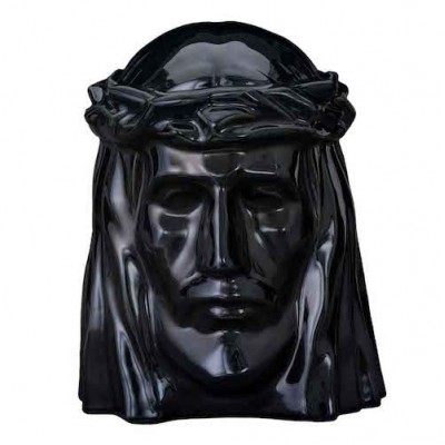 Keramische Urn The Christ Black Gloss