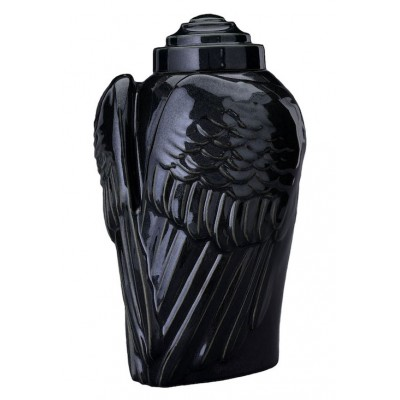 Keramische Urn Wings Black Gloss