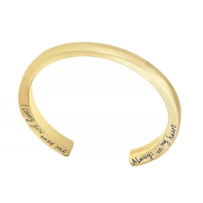 As Armband Design Dames I Carry You With Me Goud Verguld